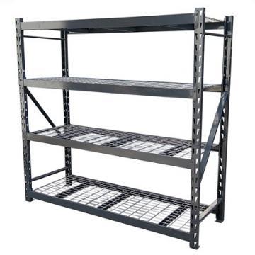 Industrial Shelf, 5-Tier Bookshelf, Storage Rack Wood Look Accent Furniture, Metal Frame