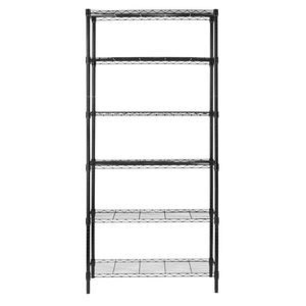 Amj241472b4 Ce ISO SGS Approved 4 Tier Black Heavy Duty Wire Shelf