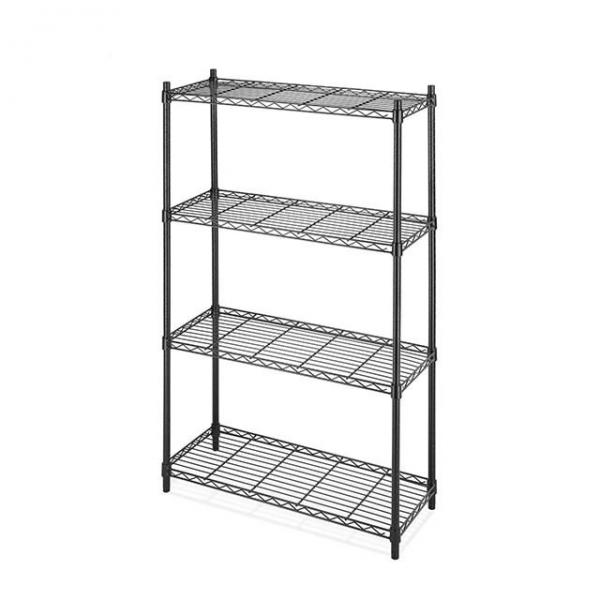 Stainless Steel Wire Store Chinese Floor Storage Wall Book Supermarket Metal Retail Vegetable Store Fruit Gondola Store Wall Display Rack Stand Shelf